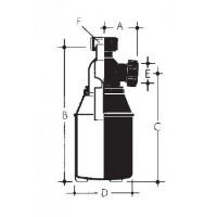 RoskaSieppari 2,3 litrainen, muovinen