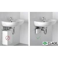 CLAGE E-mini M-END läpivirtausvedenlämmitin hanalla, lavuaarin alle asennettava malli