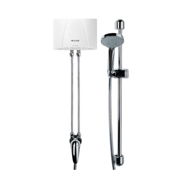 CLAGE E-mini MBX läpivirtausvedenlämmitin suihkulla