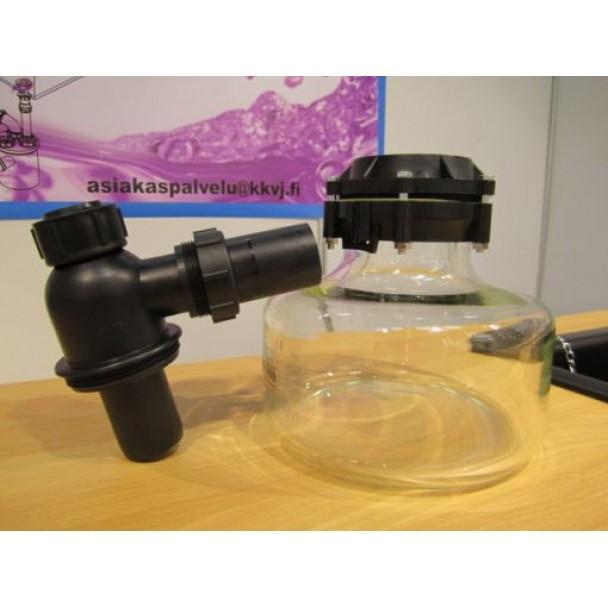 RoskaSieppari 2,3 litrainen, lasinen